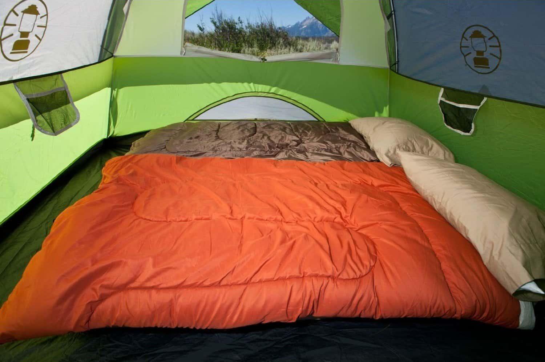 coleman sundome tent interior