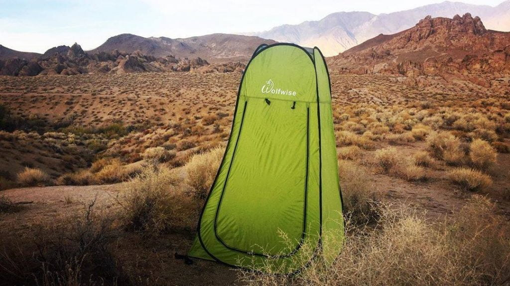 WolfWise Pop Up Portable Shower Tent