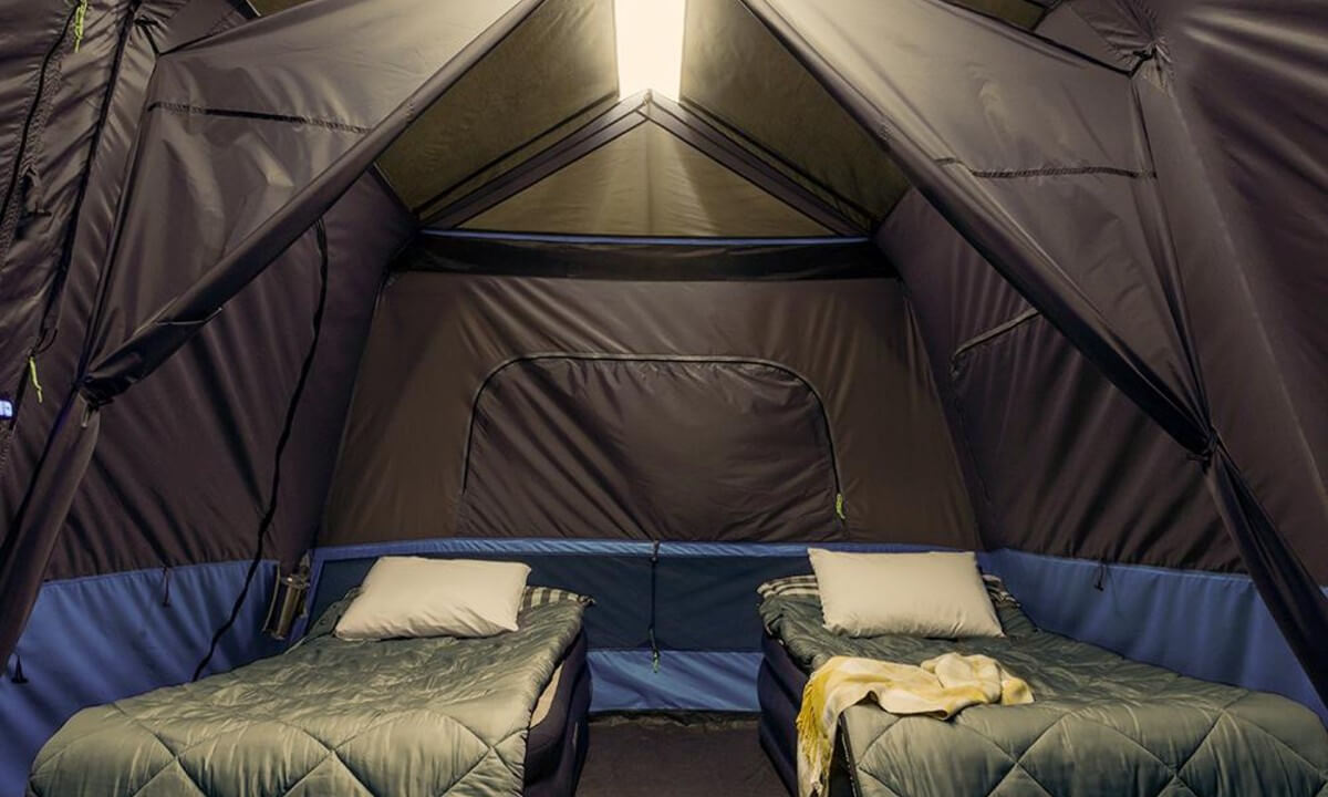 CORE lighted tent interior