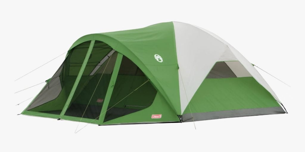 Coleman tent with screened porch