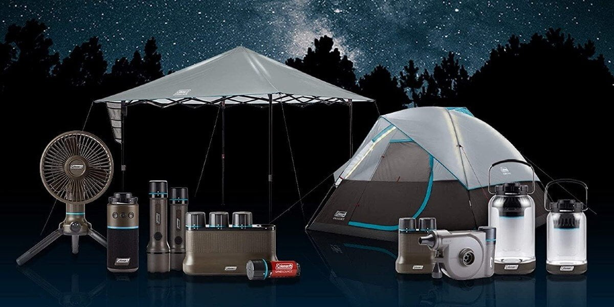 tent with built in lights