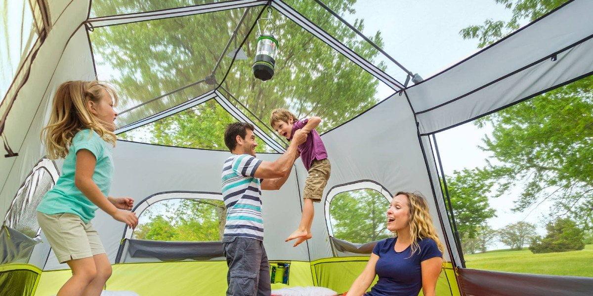 Core Equipment 9-person tent interior