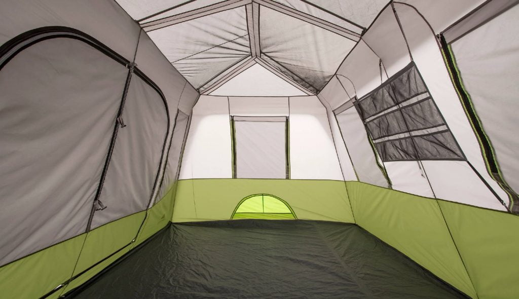 core 9-person instant cabin tent interior