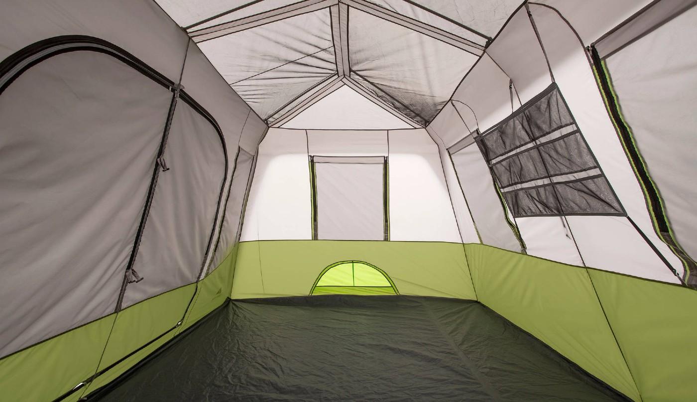 core 9-person instant cabin tent interior