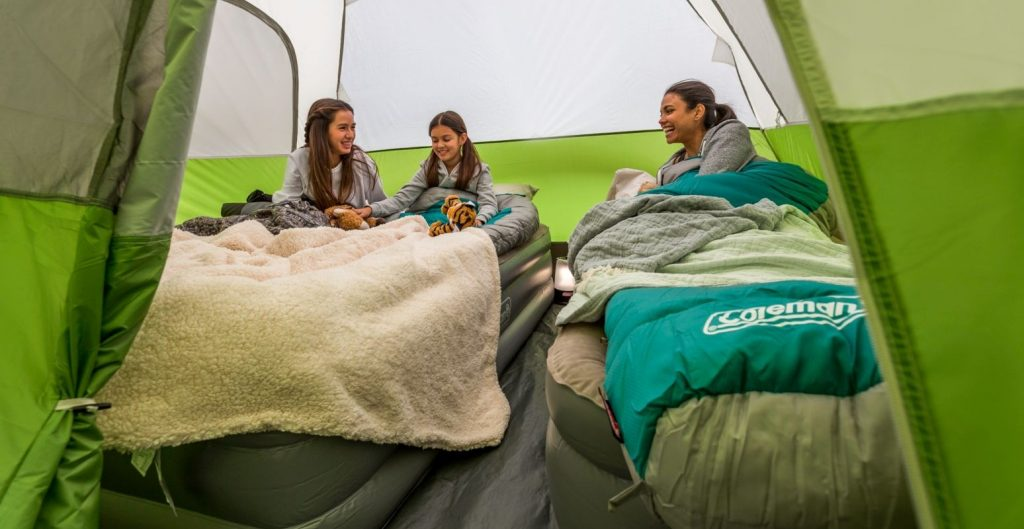 best tent for queen size air mattress