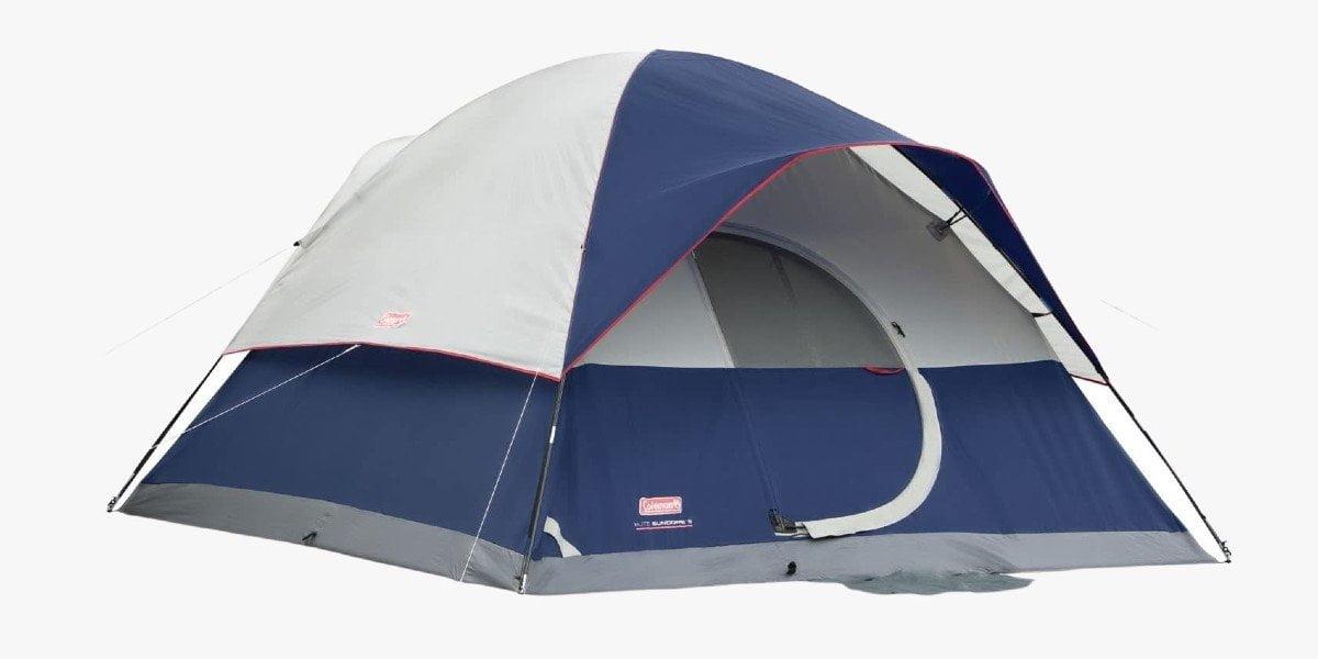 Coleman Elite Sundome LED lighted tent