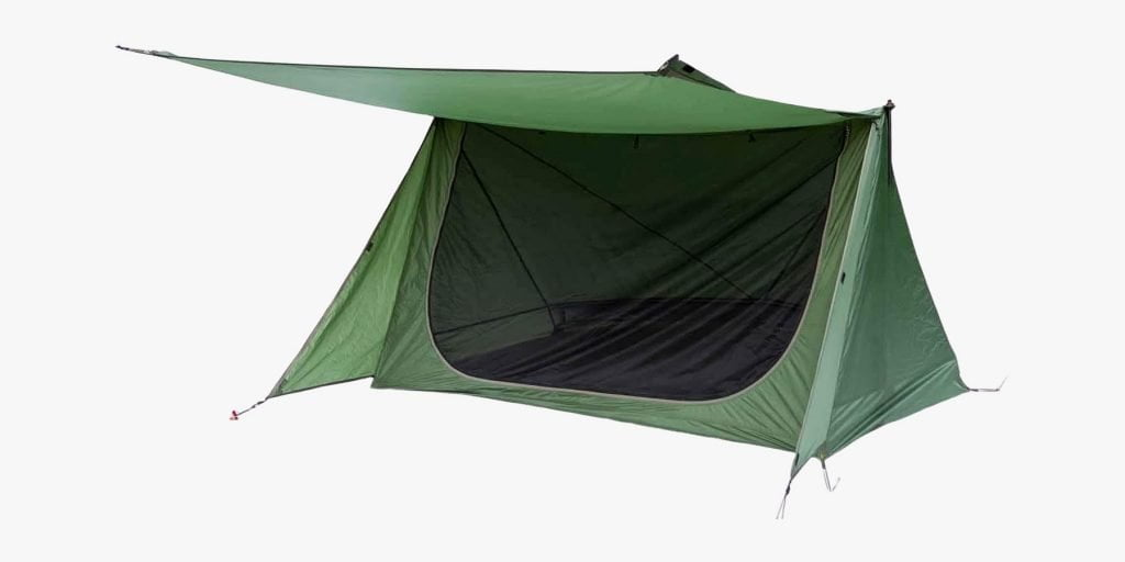 OneTigris Backwoods Bungalow backpacking tent with awning