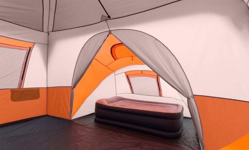 Ozark trail 11-person 3-room instant cabin tent interior