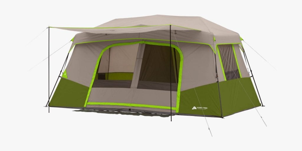 Ozark Trail 11-person tent with awning
