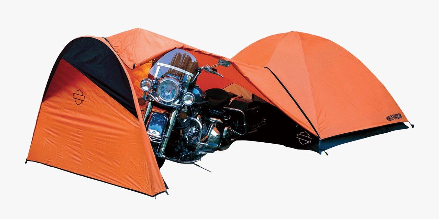Harley Davidson Dome Tent with Motorcycle Storage