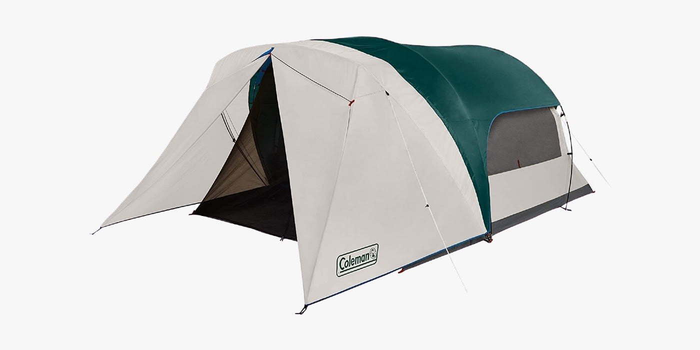 Coleman tent with screen room with floor