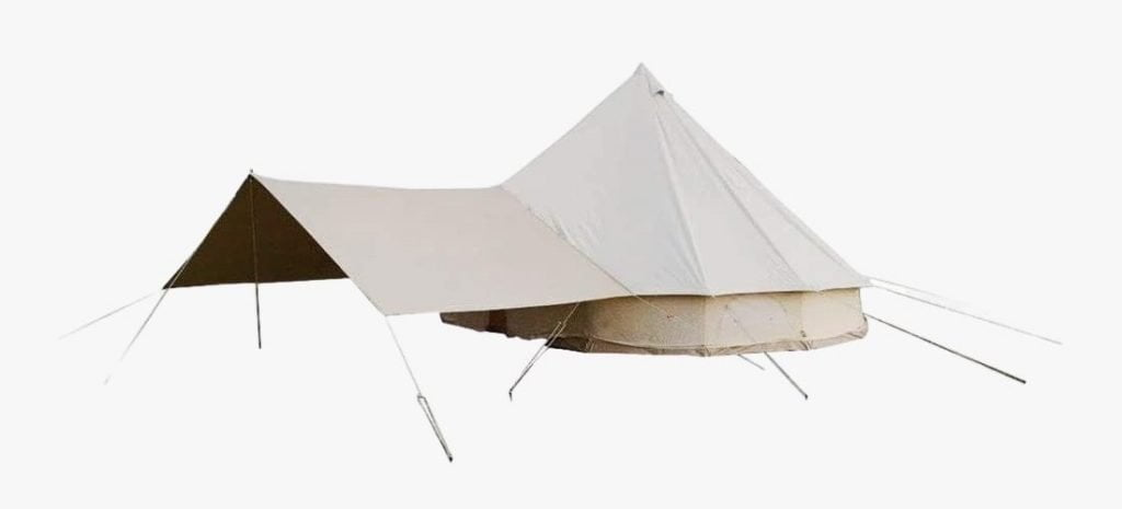 Danchel cotton canvas bell tent with front awning