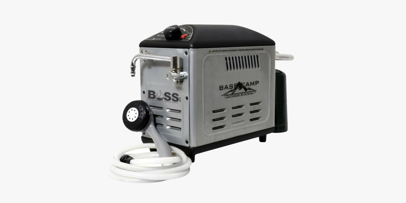 Mr. Heater XW18 portable hot water shower for camping