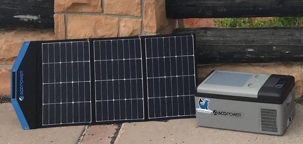 solar powered cooler for camping