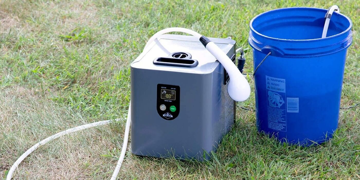 Hike Crew portable hot water shower for camping