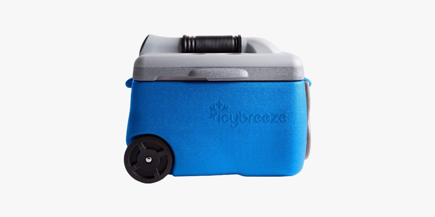 IcyBreeze v2 portable tent AC unit and cooler