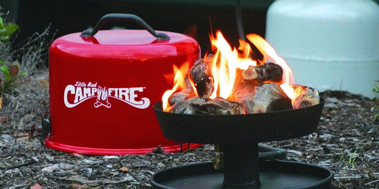Little Red Campfire propane fire pit for camping