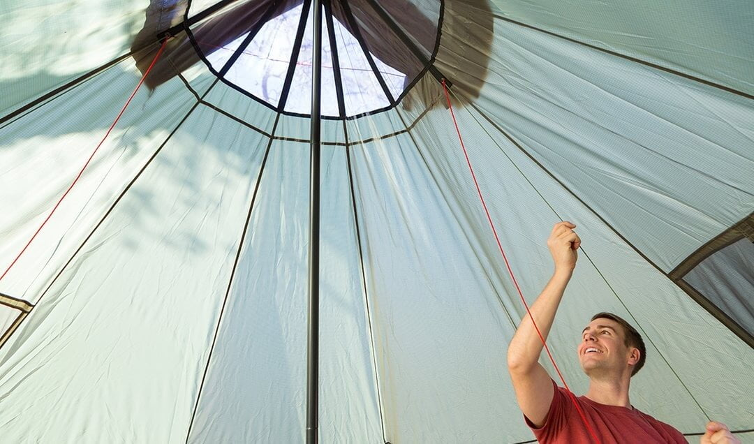 Omnicore Designs teepee tent interior