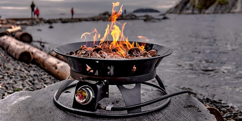 Outland Firebowl Premium propane fire pit for camping