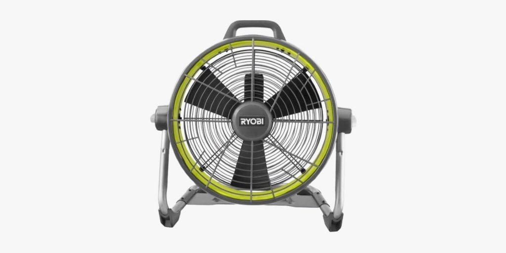 Ryobi camping fan for large tent