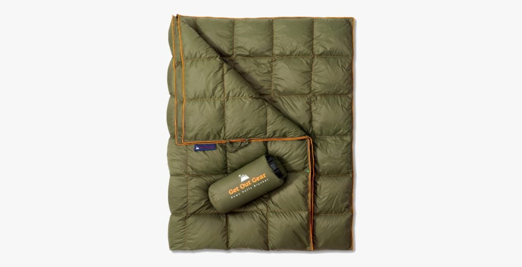 Get Out Gear Down Camping Blanket for cold weather