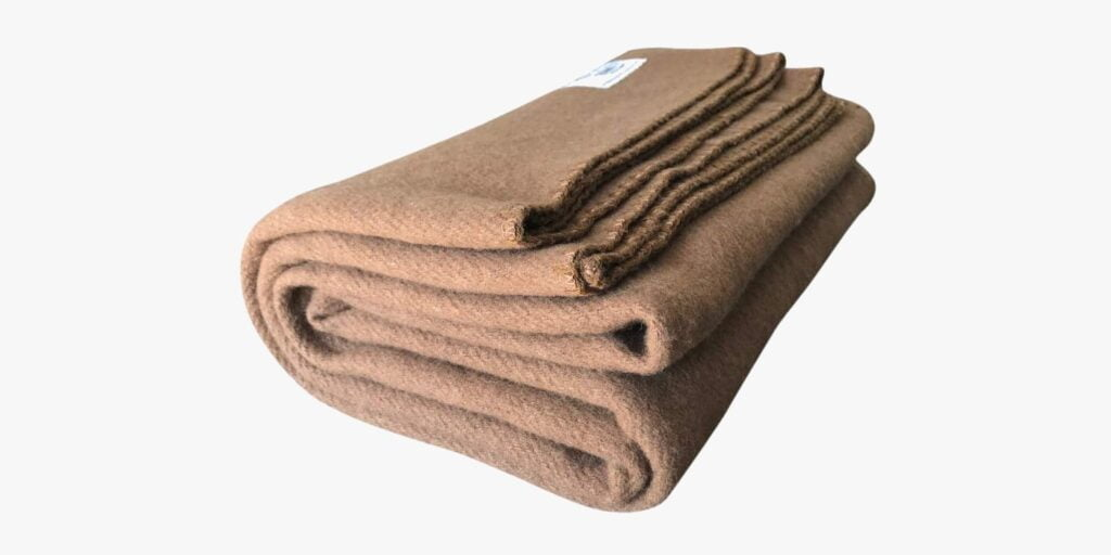 Woolly Mammoth Woolen Co cold weather camping blanket